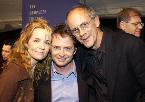 Lea Thompson, Michael J. Fox et Christopher Lloyd
