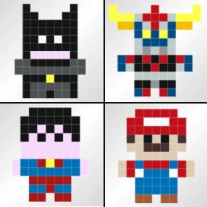 Stickers-pixels-Super-heros