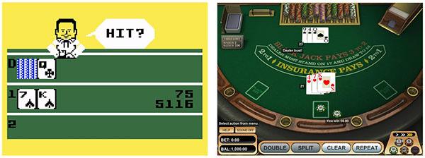 Le blackjack et les jeux vidéos