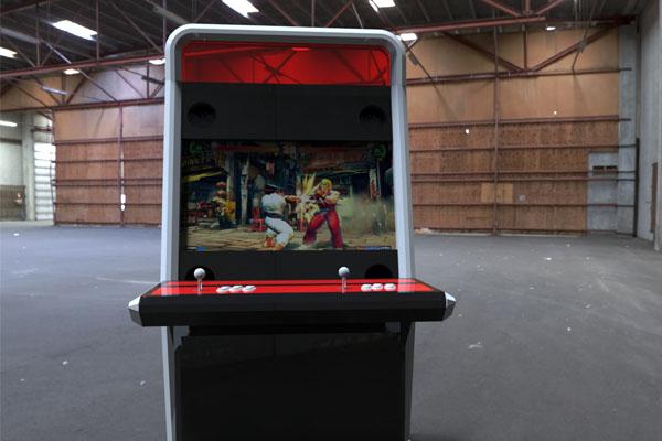 Borne d'arcade personnalisée en entreprise