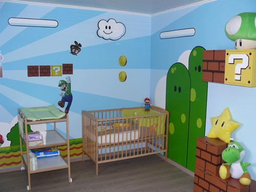 chambre bébé geek