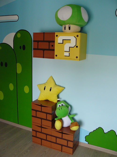 une chambre de b b aux couleurs de mario bros. Black Bedroom Furniture Sets. Home Design Ideas
