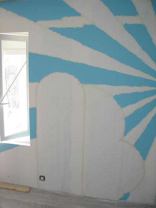 Une chambre de b b aux couleurs de mario bros - Chambre peinture 2 couleurs ...