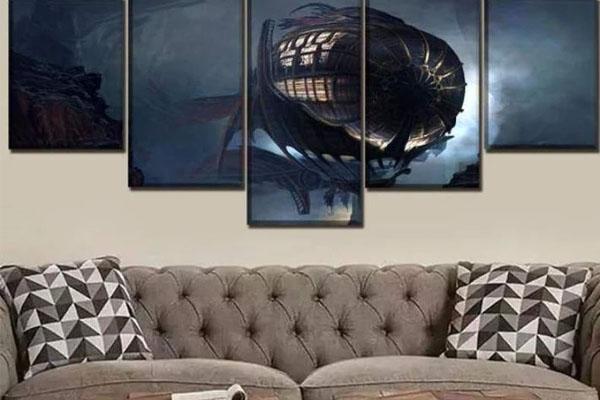 Tableau zeppelin steampunk
