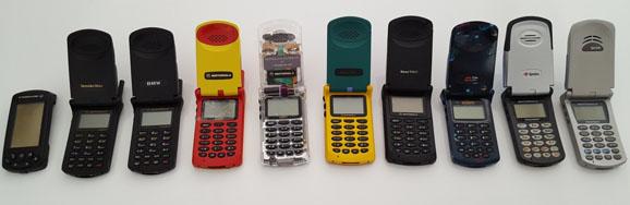 Les téléphones portables d'hier et d'aujourd'hui